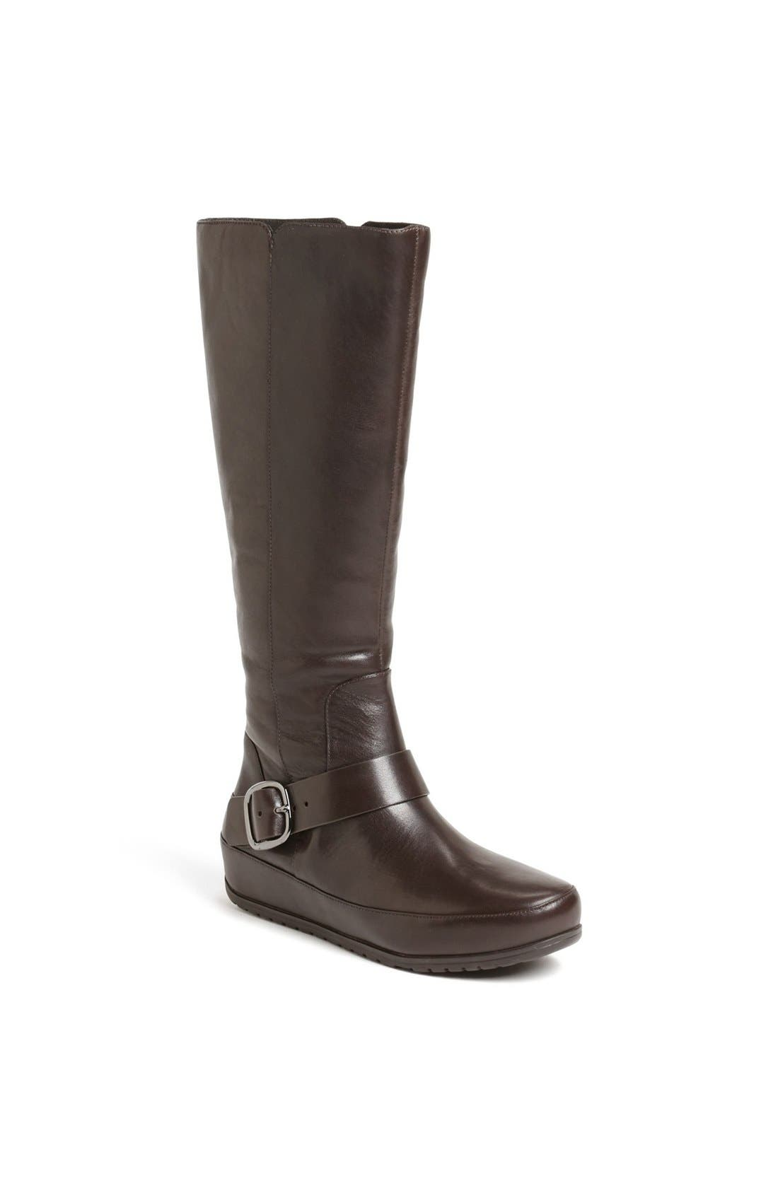 Main Image - FitFlop 'Duéboot™ Buckle' Tall Leather Boot