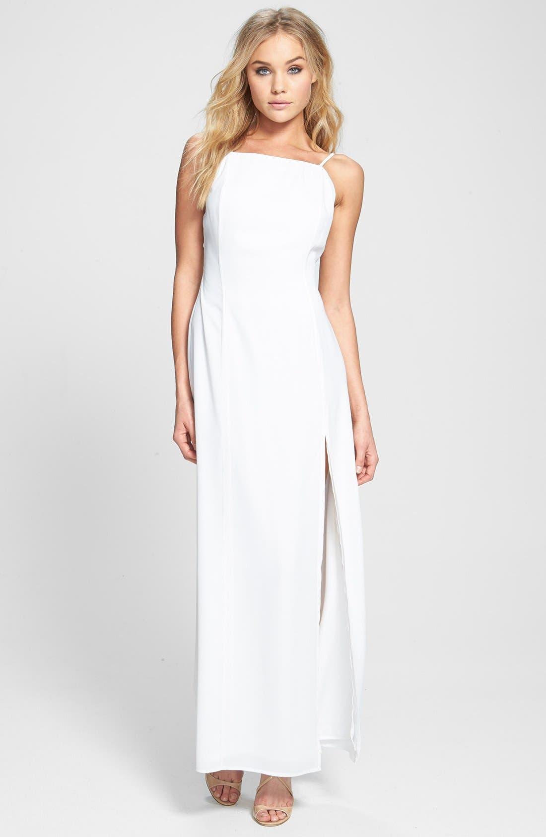 Main Image - June & Hudson Open Back Woven Maxi Dress