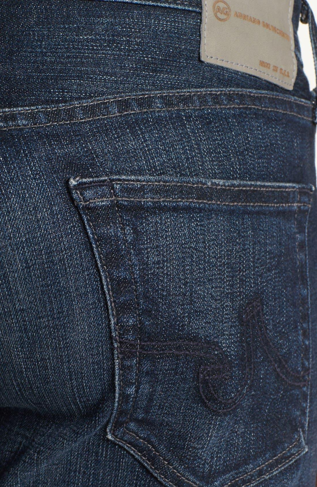 Alternate Image 4  - AG 'Matchbox' Slim Fit Jeans (Six Years Cast)