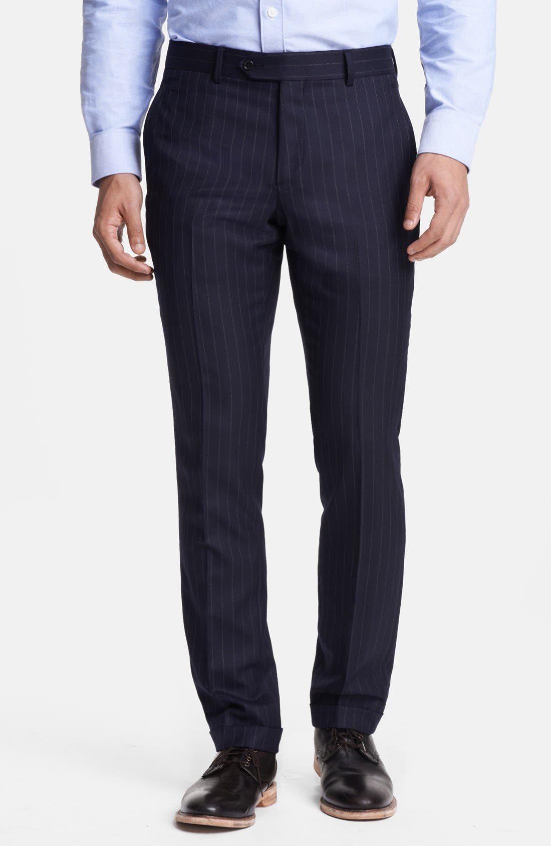Alternate Image 5  - Todd Snyder Navy Pinstripe Wool Suit