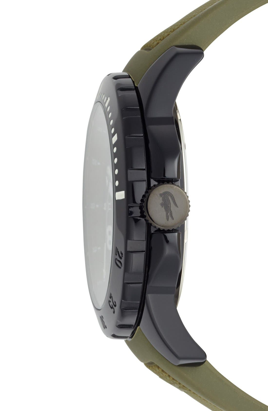 Alternate Image 3  - Lacoste 'Fiji' Silicone Strap Watch, 46mm