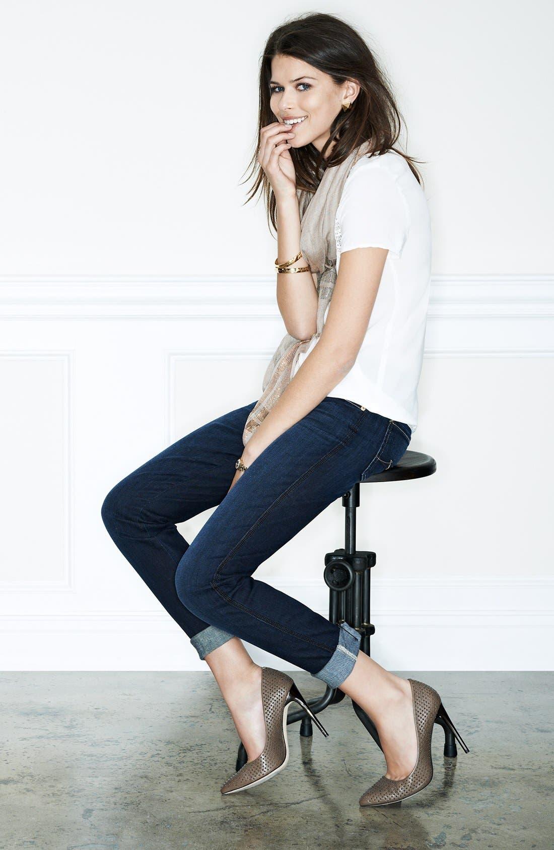 Alternate Image 6  - Ella Moss 'Frankie' Faux Leather Sleeve Top