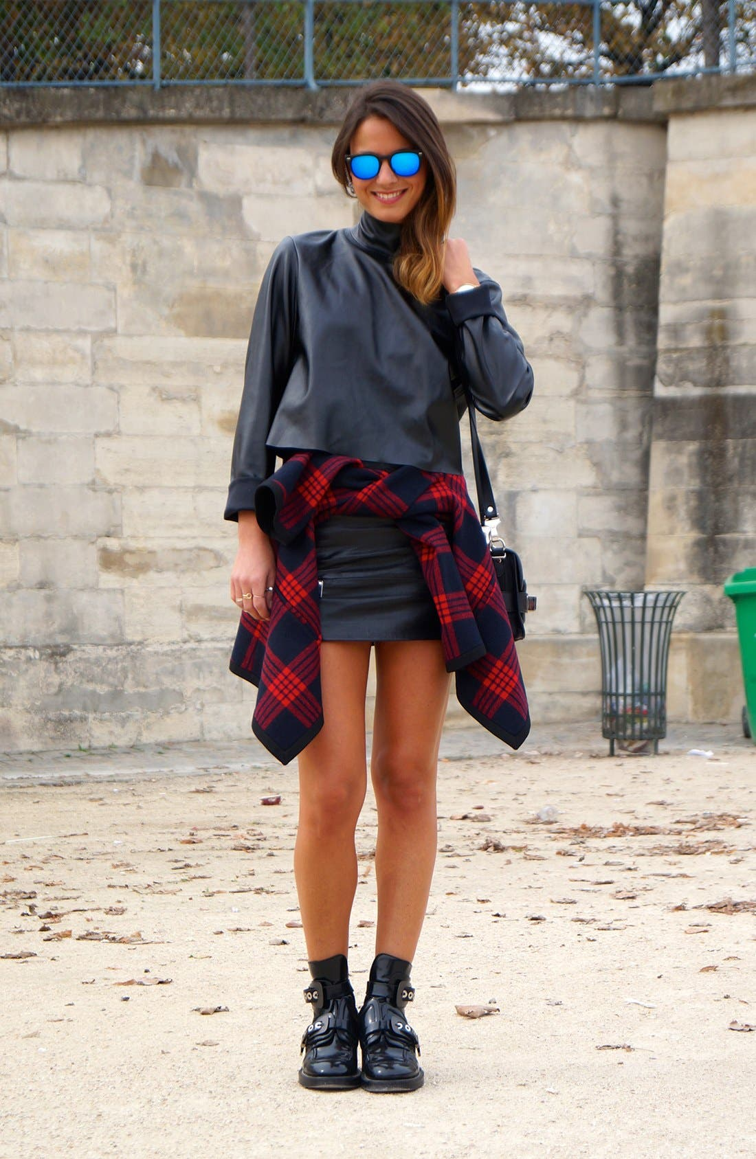 Alternate Image 1 Selected - The Leather Mini Street Style Look