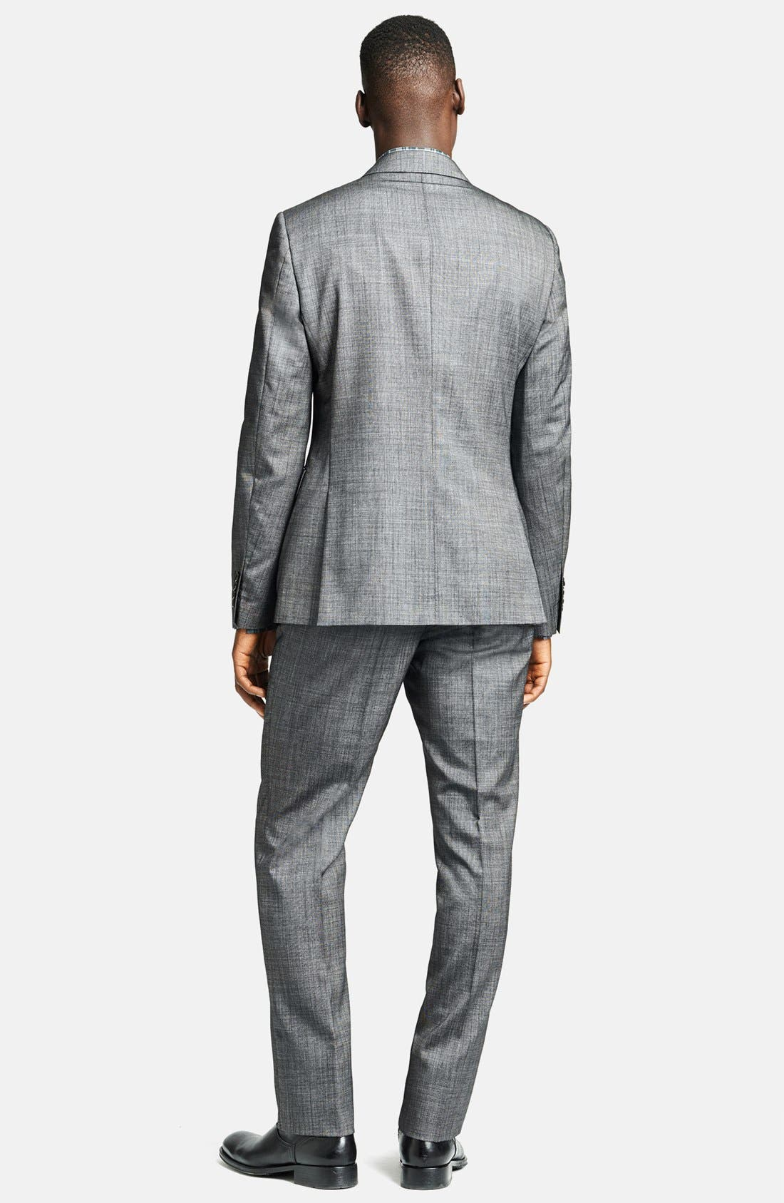 Alternate Image 2  - John Varvatos Collection 'Austin' Licorice Wool & Silk Suit
