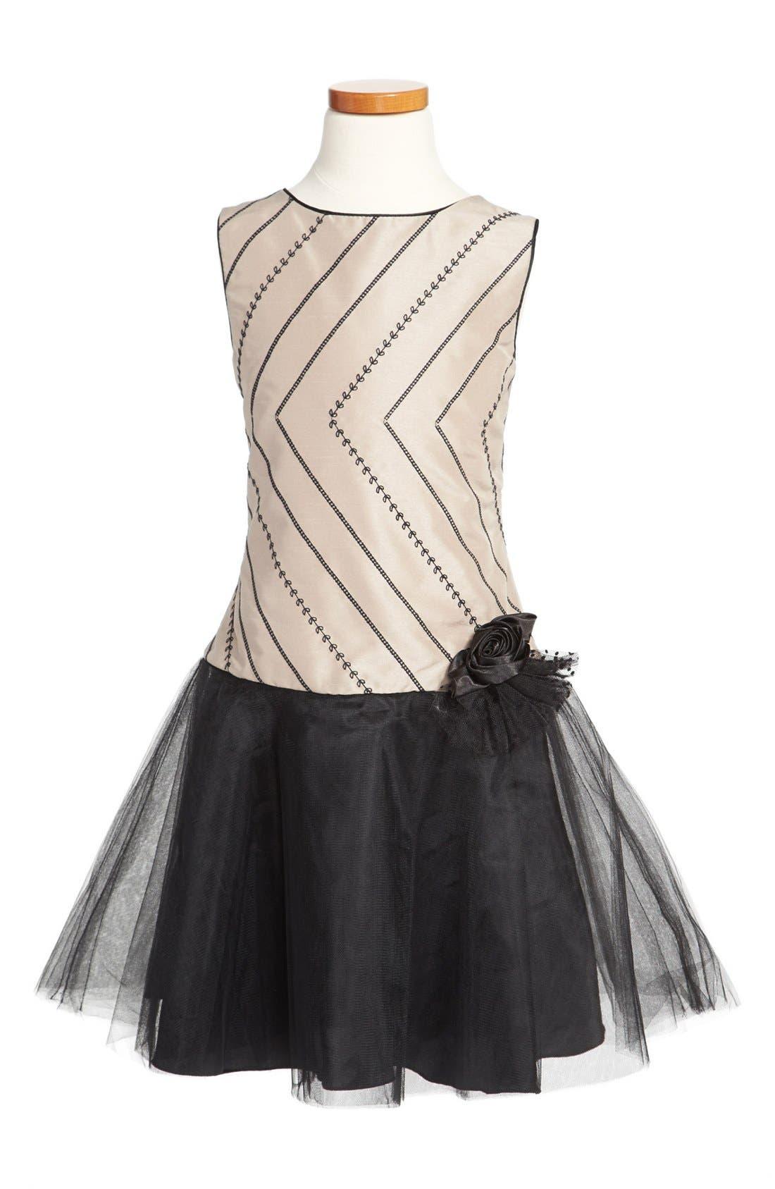 Alternate Image 1 Selected - Dorissa Drop Waist Dress (Big Girls)