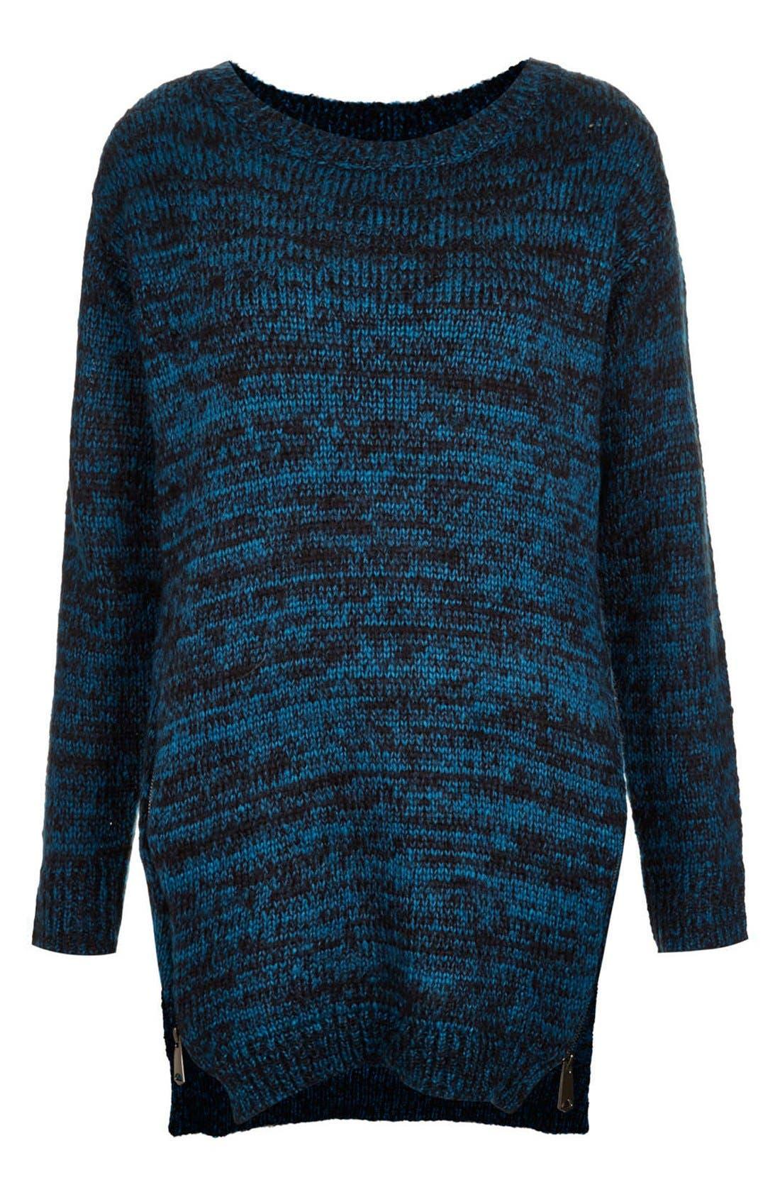 Alternate Image 3  - Topshop Side Zip Tweed Sweater