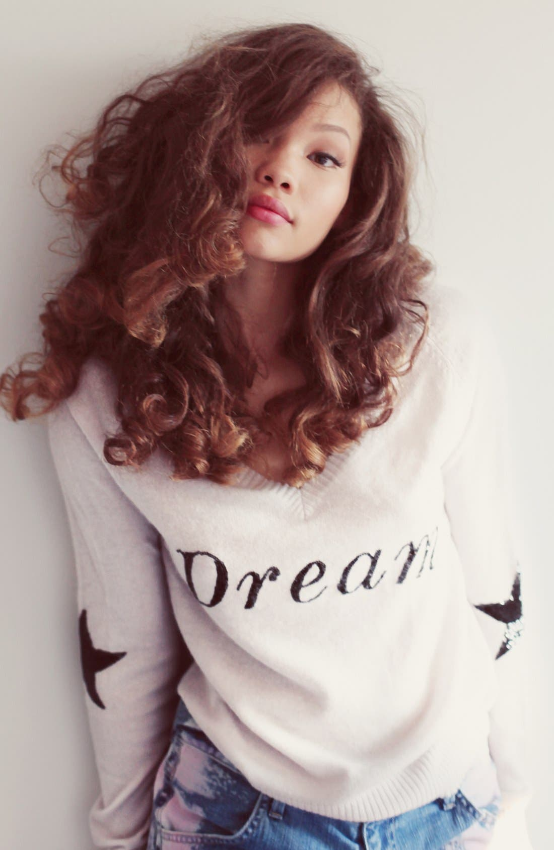 Alternate Image 4  - Wildfox 'Dream' Sequin V-Neck Knit Sweater