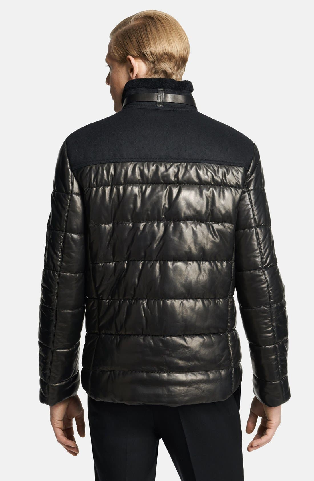 Alternate Image 2  - Neil Barrett Leather Puffer Jacket