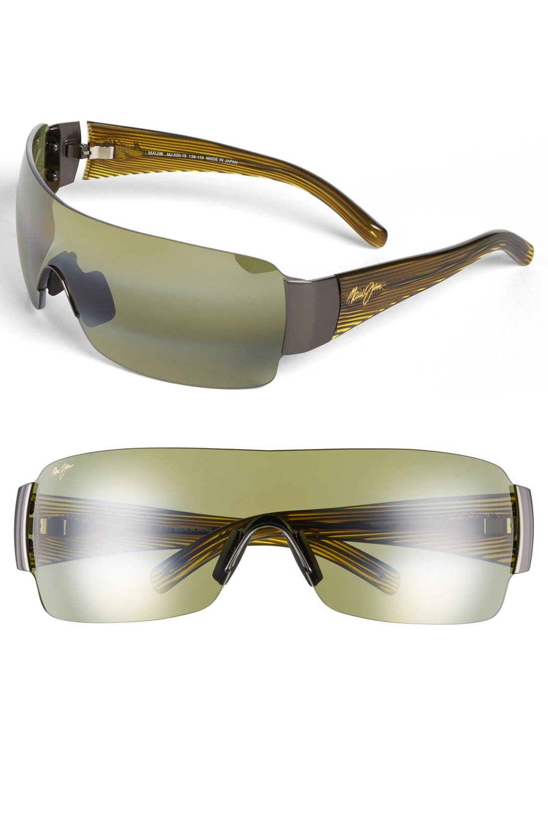 Main Image - Maui Jim 'Honolulu - PolarizedPlus®2' 136mm Shield Sunglasses