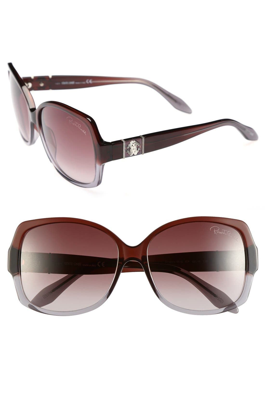 Main Image - Roberto Cavalli 59mm Oversized Sunglasses (Special Purchase)