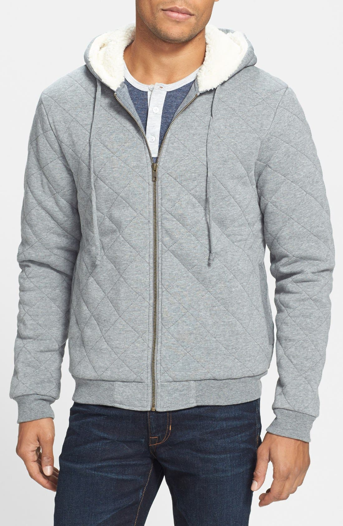 Alternate Image 1 Selected - Alternative 'Duke' Quilted Zip Hoodie