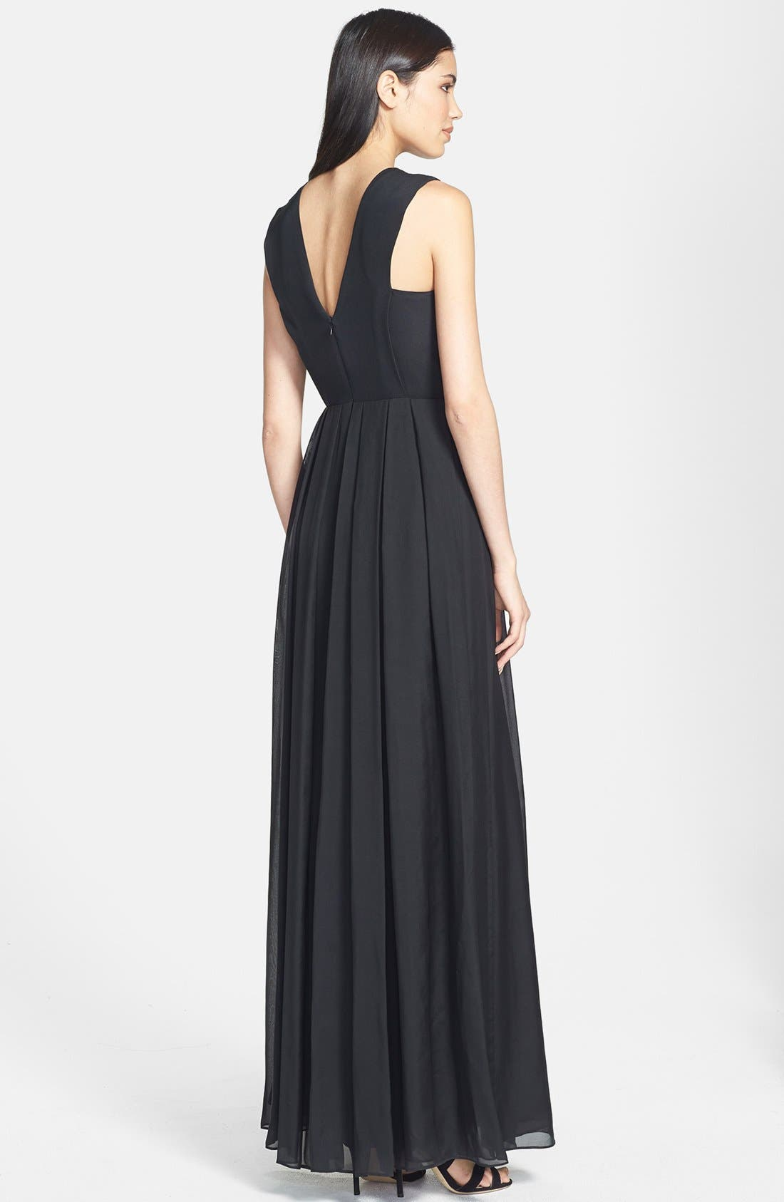 Alternate Image 2  - Rebecca Taylor Embellished Silk Gown