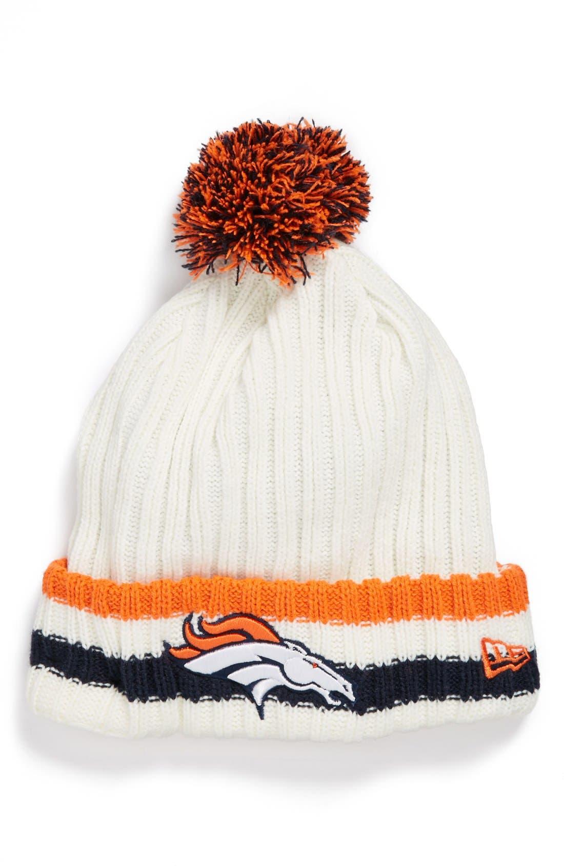 Alternate Image 1 Selected - New Era Cap 'Yesteryear - Denver Broncos' Knit Cap