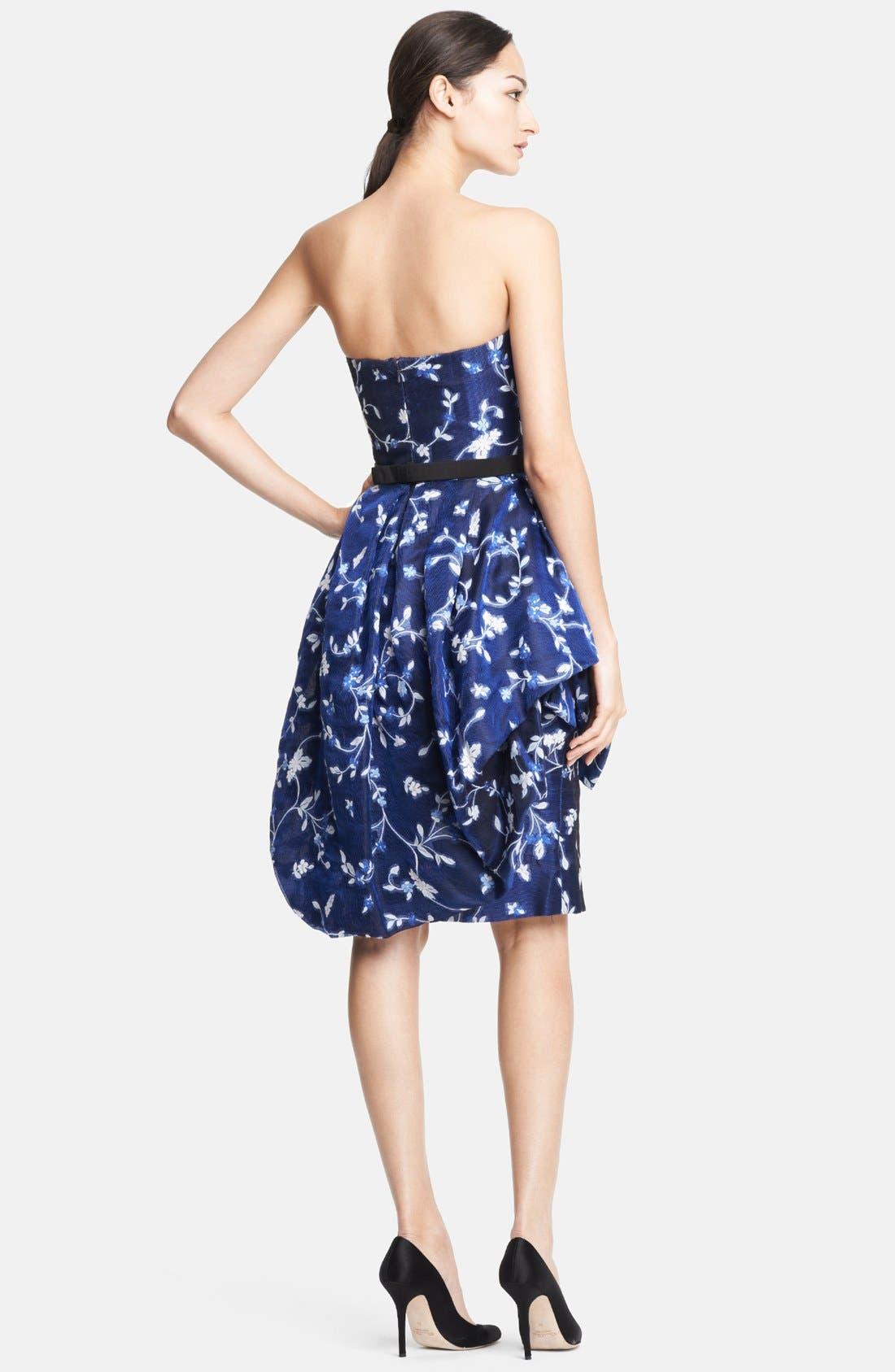 Alternate Image 2  - Oscar de la Renta Floral Fil Coupe Gazar Bubble Dress