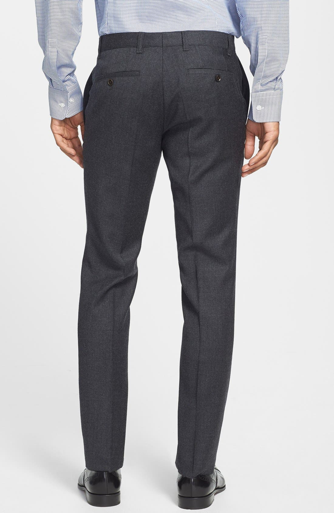 Alternate Image 2  - BOSS HUGO BOSS 'Winng' Flat Front Trousers (Online Only)