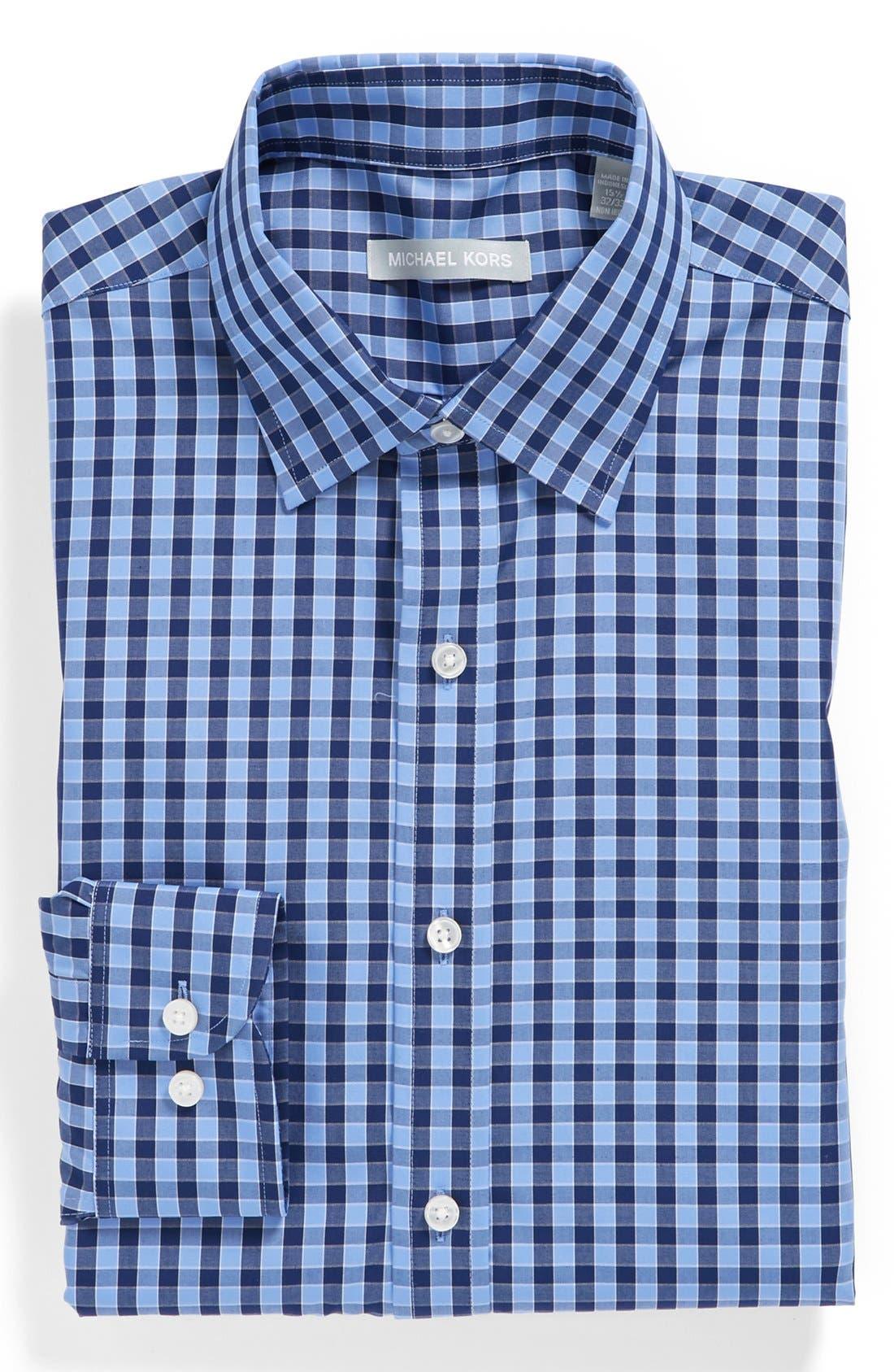 Alternate Image 1 Selected - Michael Kors Gingham Regular Fit Non-Iron Dress Shirt