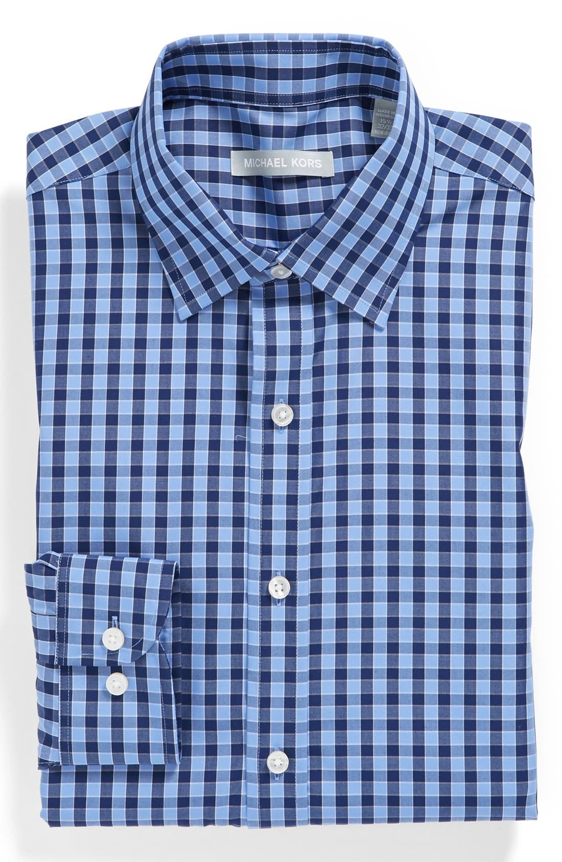 Main Image - Michael Kors Gingham Regular Fit Non-Iron Dress Shirt