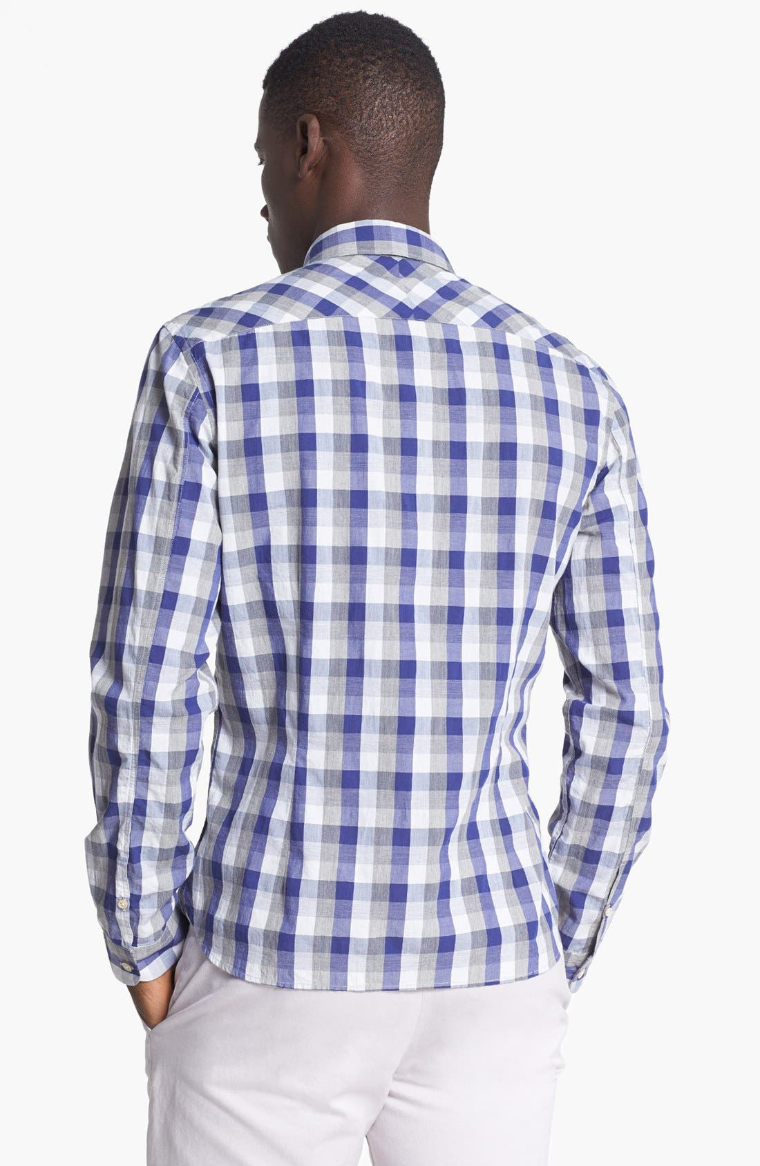 Alternate Image 2  - Paul Smith Jeans Slim Fit Check Cotton Shirt
