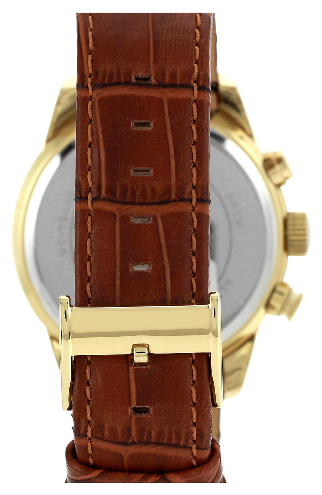 Alternate Image 2  - Vince Camuto 'The Apolo' Round Leather Strap Watch, 45mm