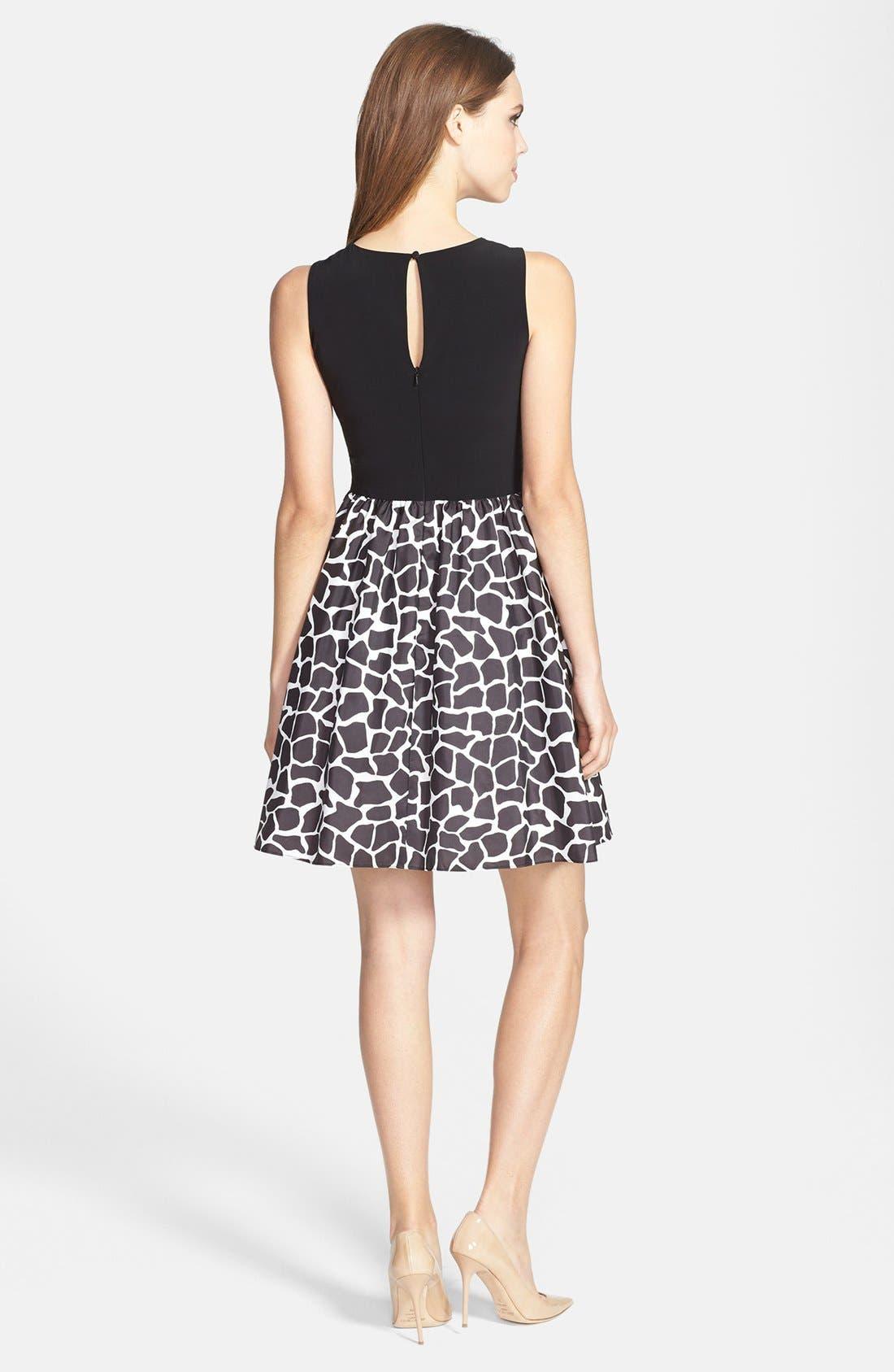 Alternate Image 3  - Aidan Mattox Sleeveless Taffeta Fit & Flare Dress