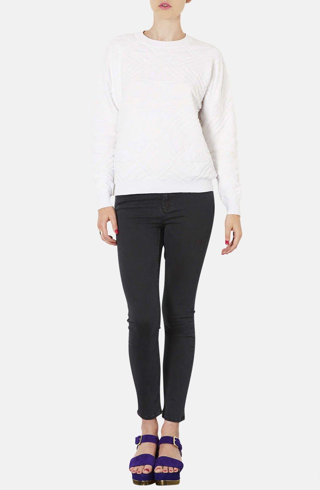 Alternate Image 4  - Topshop Moto 'Jamie' High Rise Skinny Jeans (Black) (Short)