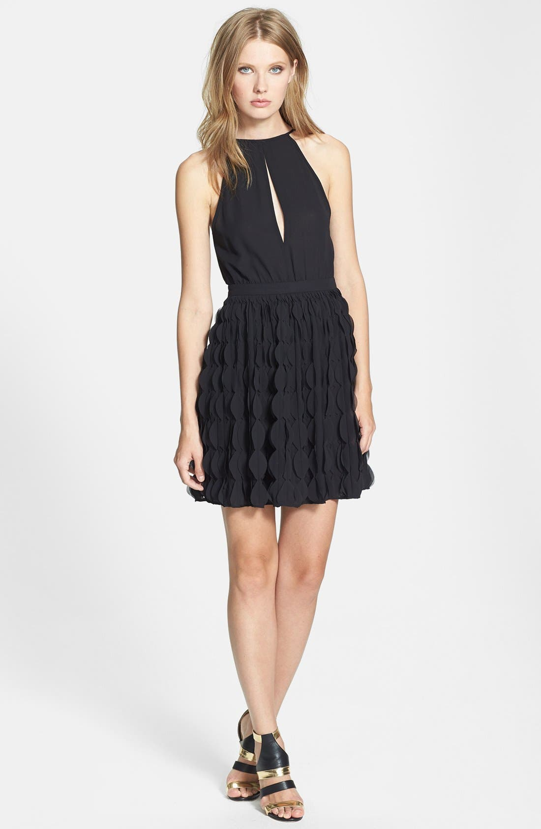 Alternate Image 1 Selected - Diane von Furstenberg 'Gia' Ruffle Skirt Fit & Flare Dress