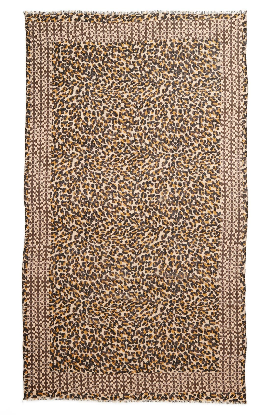 Alternate Image 3  - Tory Burch 'Panthra - Small T' Wool Scarf