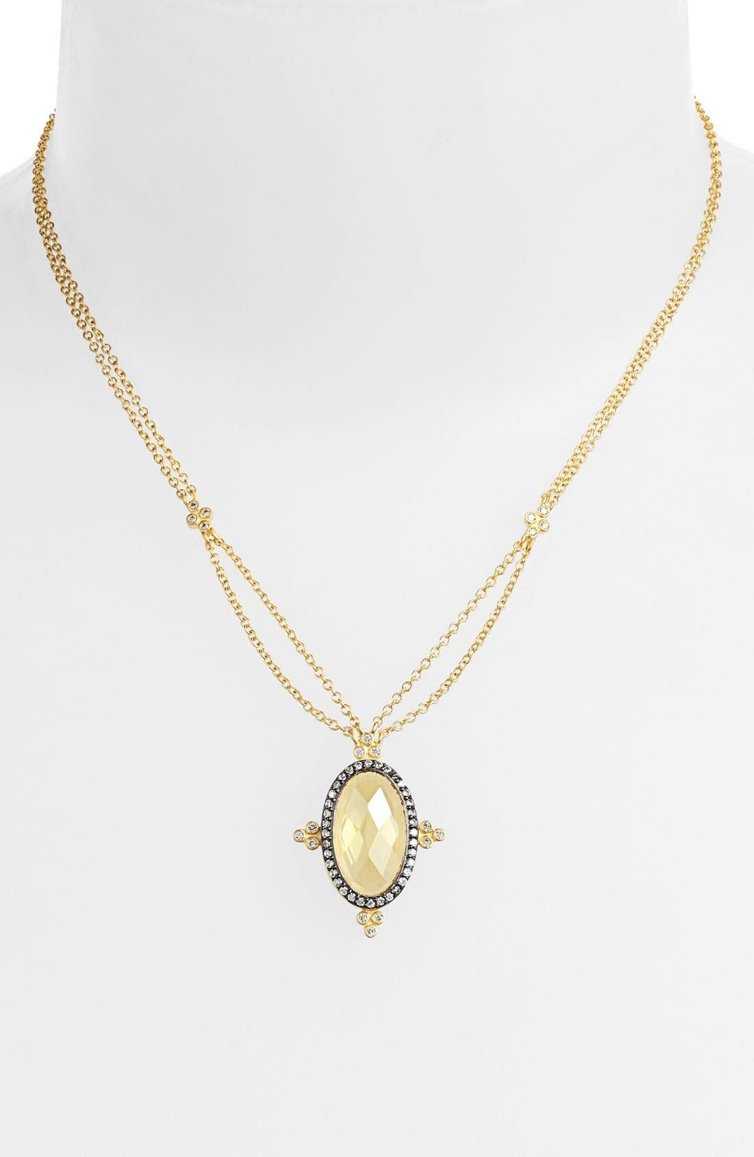 Alternate Image 1 Selected - FREIDA ROTHMAN 'Ivory' Oval Pendant Necklace