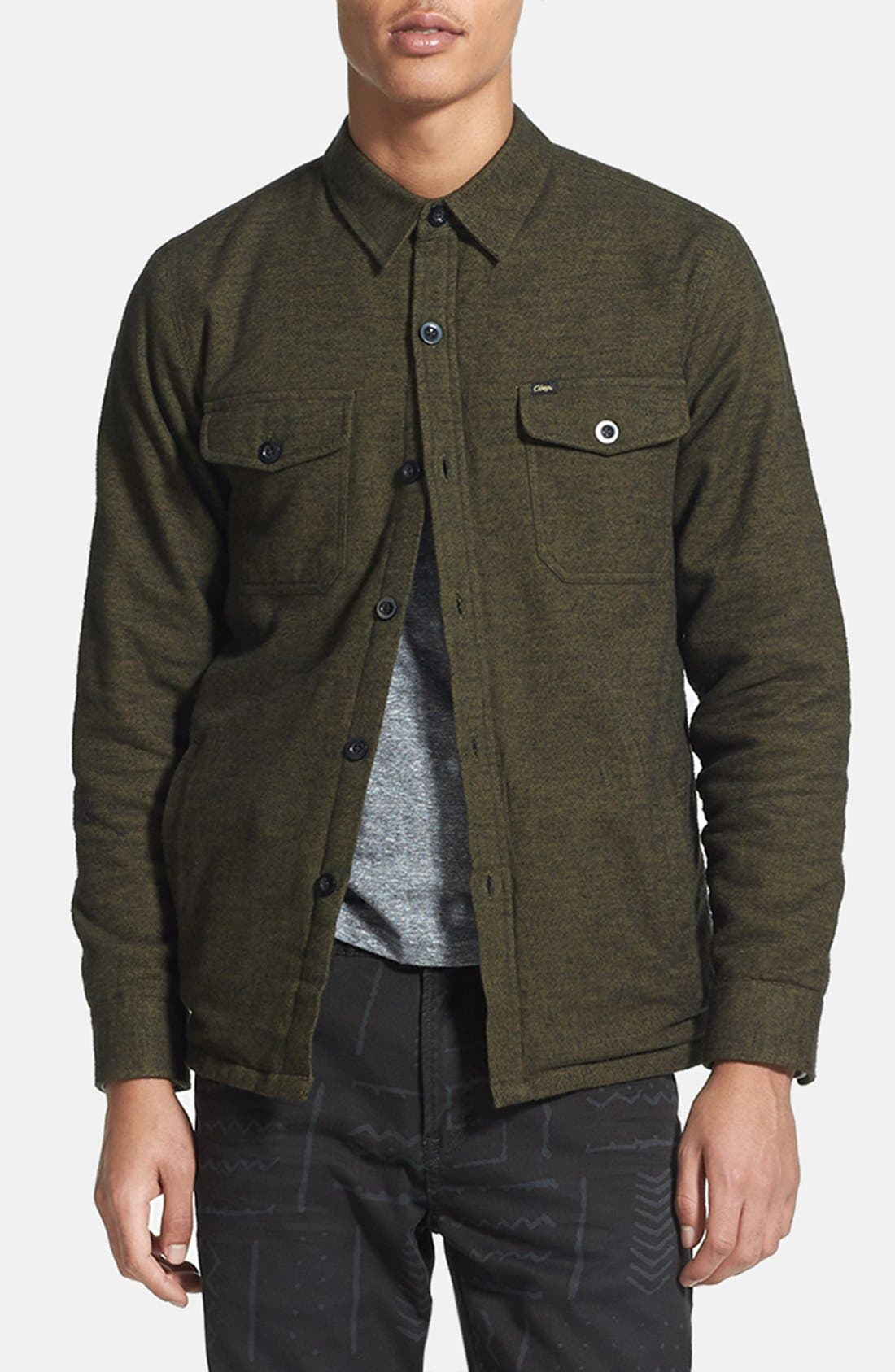 Main Image - Obey 'Field Master' Lightweight Cotton Flannel Jacket