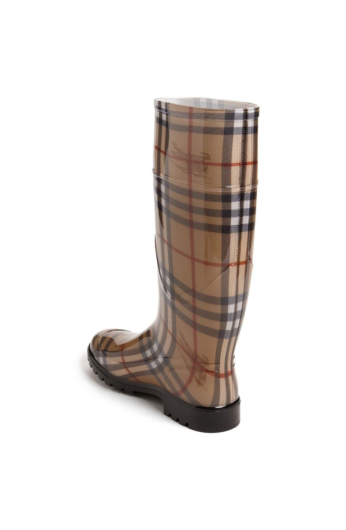 Alternate Image 4  - Burberry Tall Rain Boot (Women)