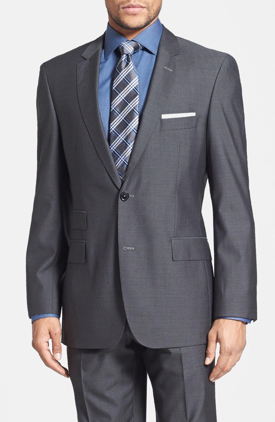 Alternate Image 3  - BOSS HUGO BOSS 'Edison/Power' Classic Fit Wool Blend Suit