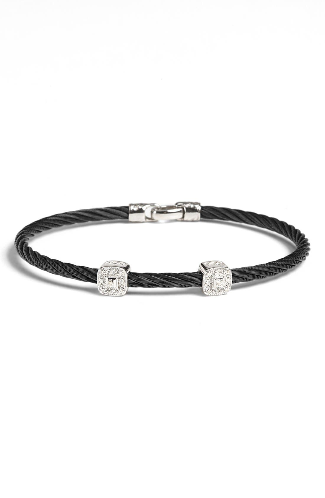 Alternate Image 1 Selected - ALOR® Square Diamond Station Stackable Bracelet