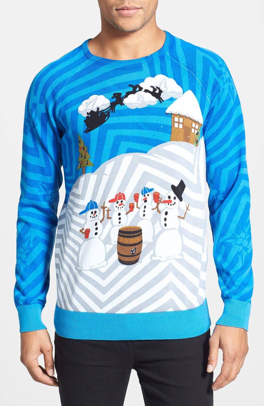 Alternate Image 1 Selected - Volcom 'Knogger' Print Crewneck Sweater