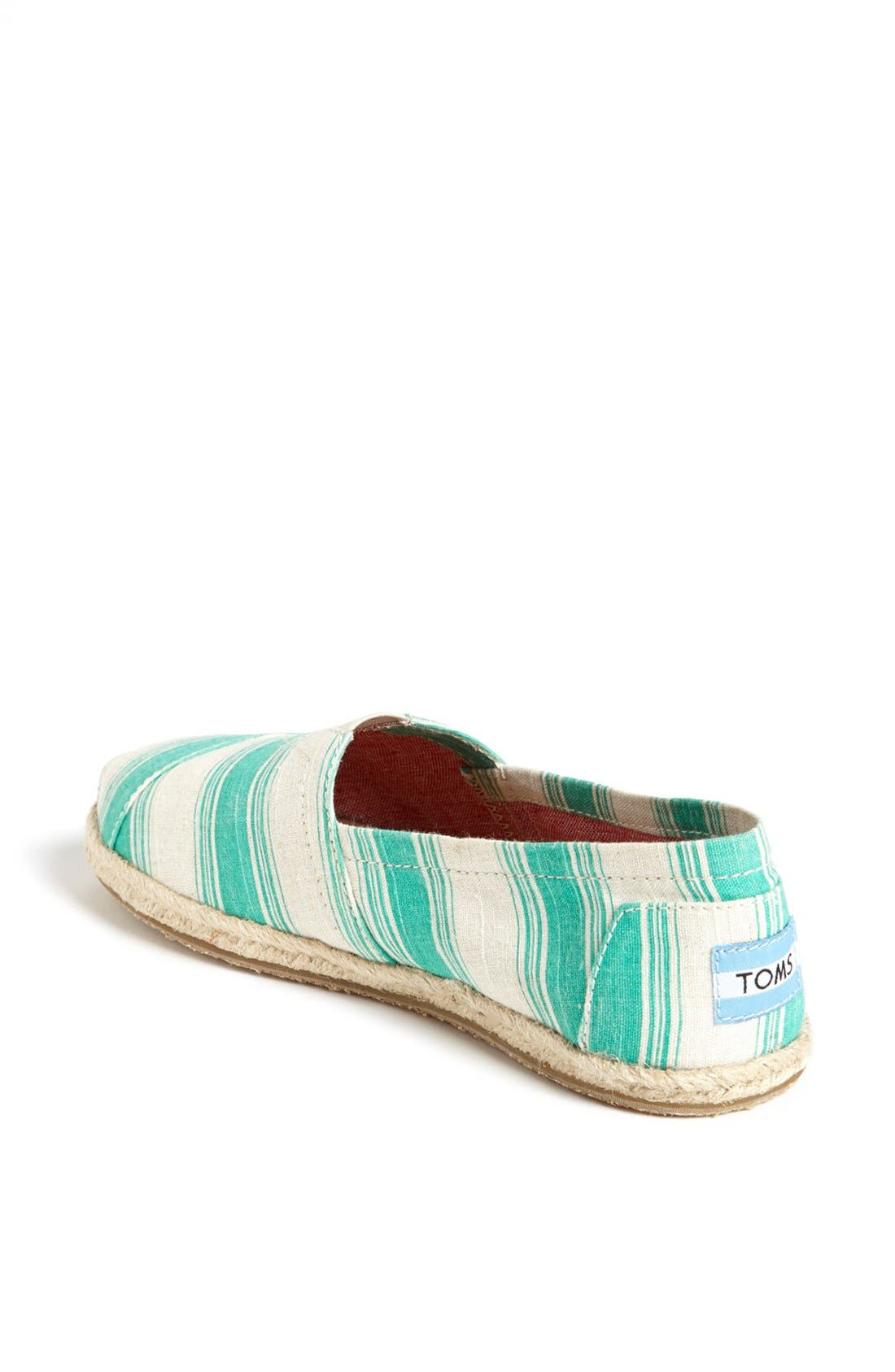 Alternate Image 2  - TOMS 'Classics - Umbrella Stripe' Slip-On (Women)