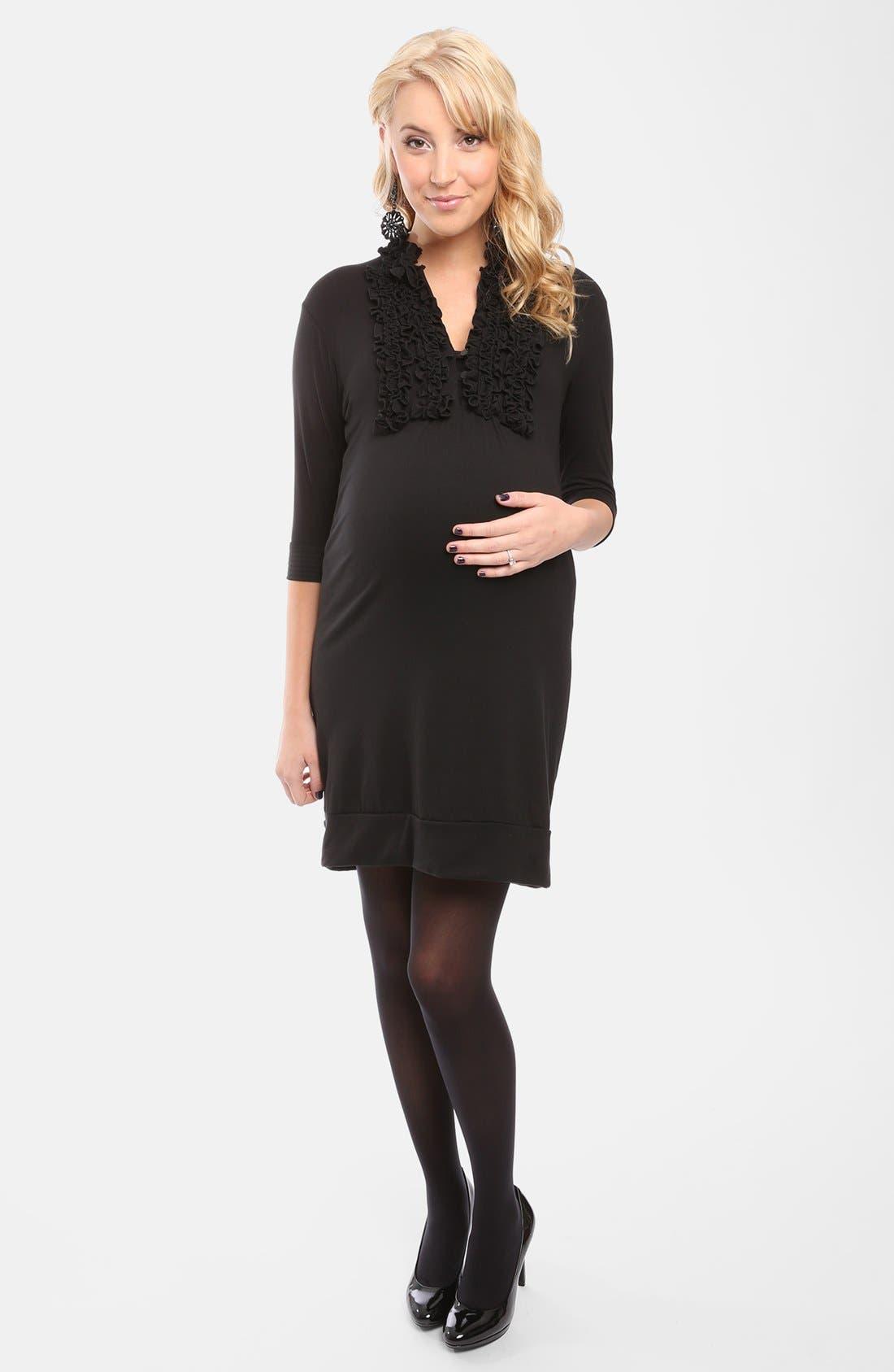 Alternate Image 1 Selected - Everly Grey 'Mattie' Tuxedo Maternity Dress