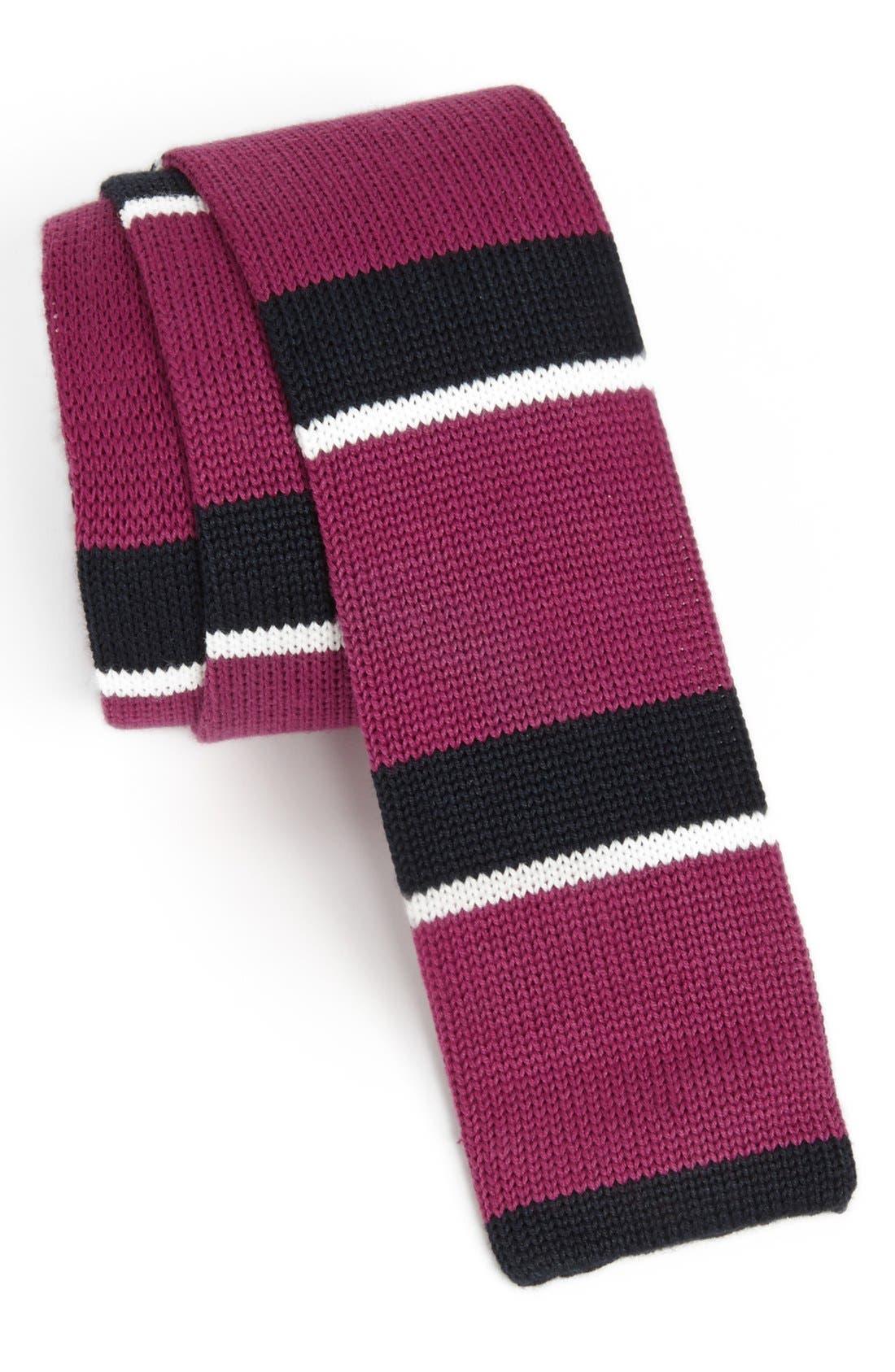 Main Image - 1901 Knit Cotton Tie