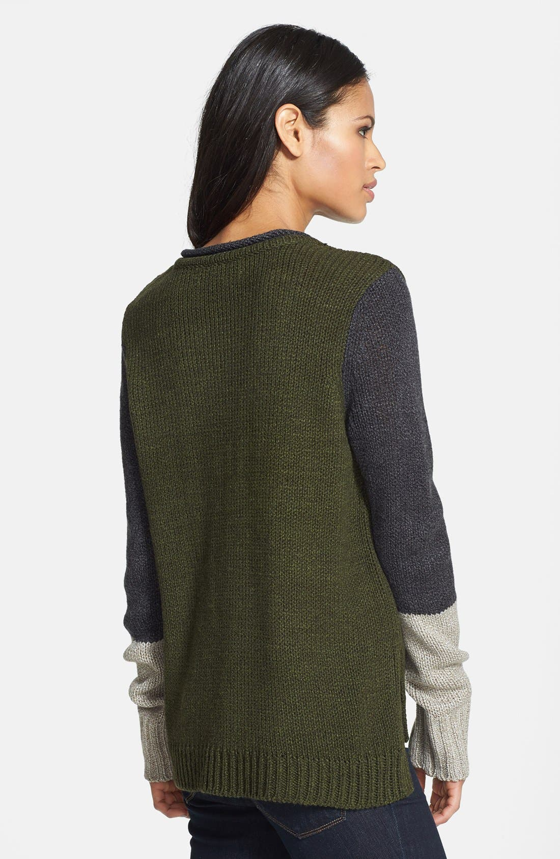 Alternate Image 2  - Curio Colorblock V-Neck Sweater