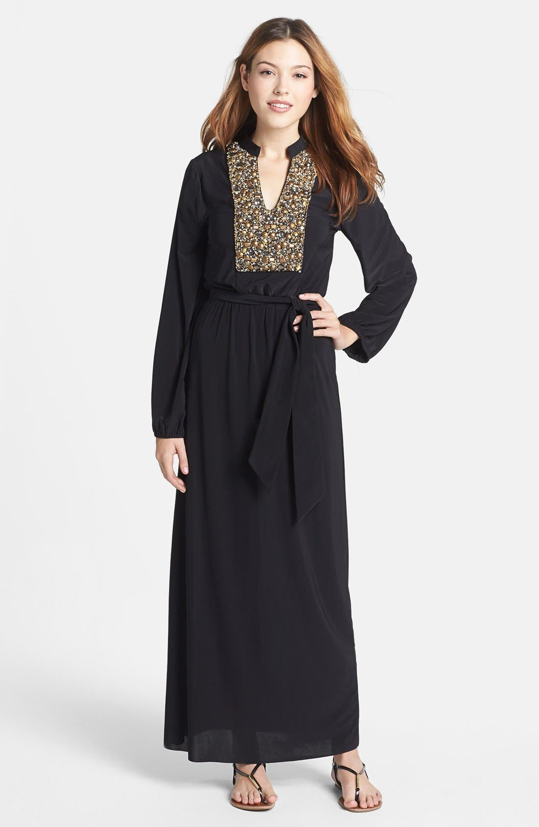 Main Image - Tbags Los Angeles Embellished Maxi Dress