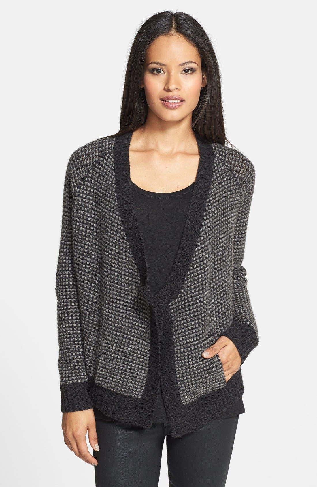 Alternate Image 1 Selected - Eileen Fisher Wool & Yak Wool Drape Front Cardigan