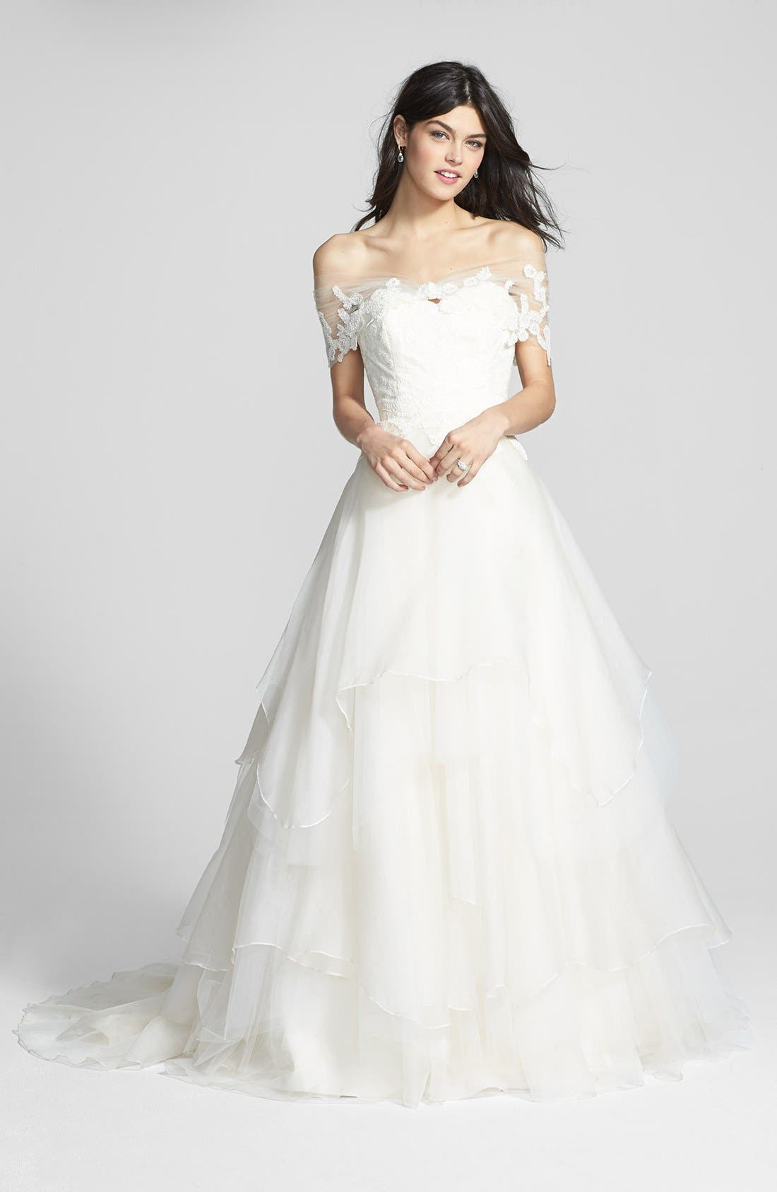 Alternate Image 4  - Hayley Paige 'Mila' Strapless Silk Organza Wedding Dress (In Stores Only)