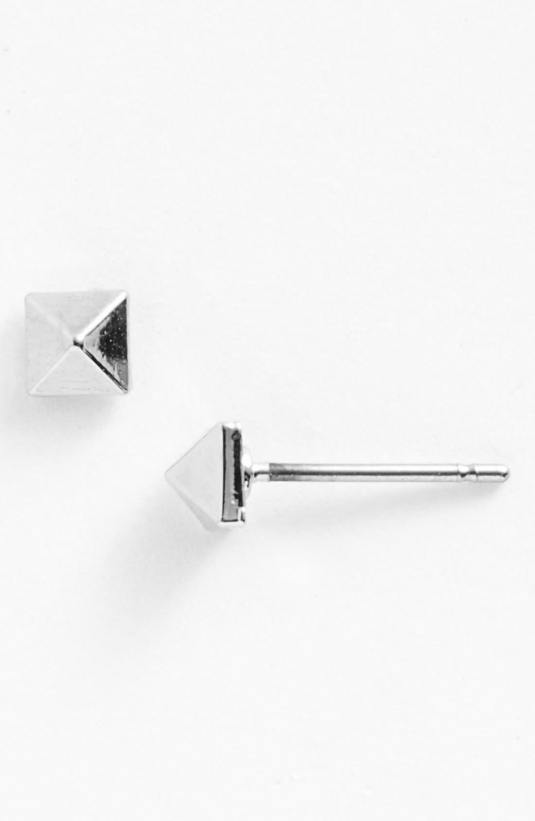Alternate Image 1 Selected - MARC BY MARC JACOBS 'New Plaque - Tiny' Pyramid Stud Earrings