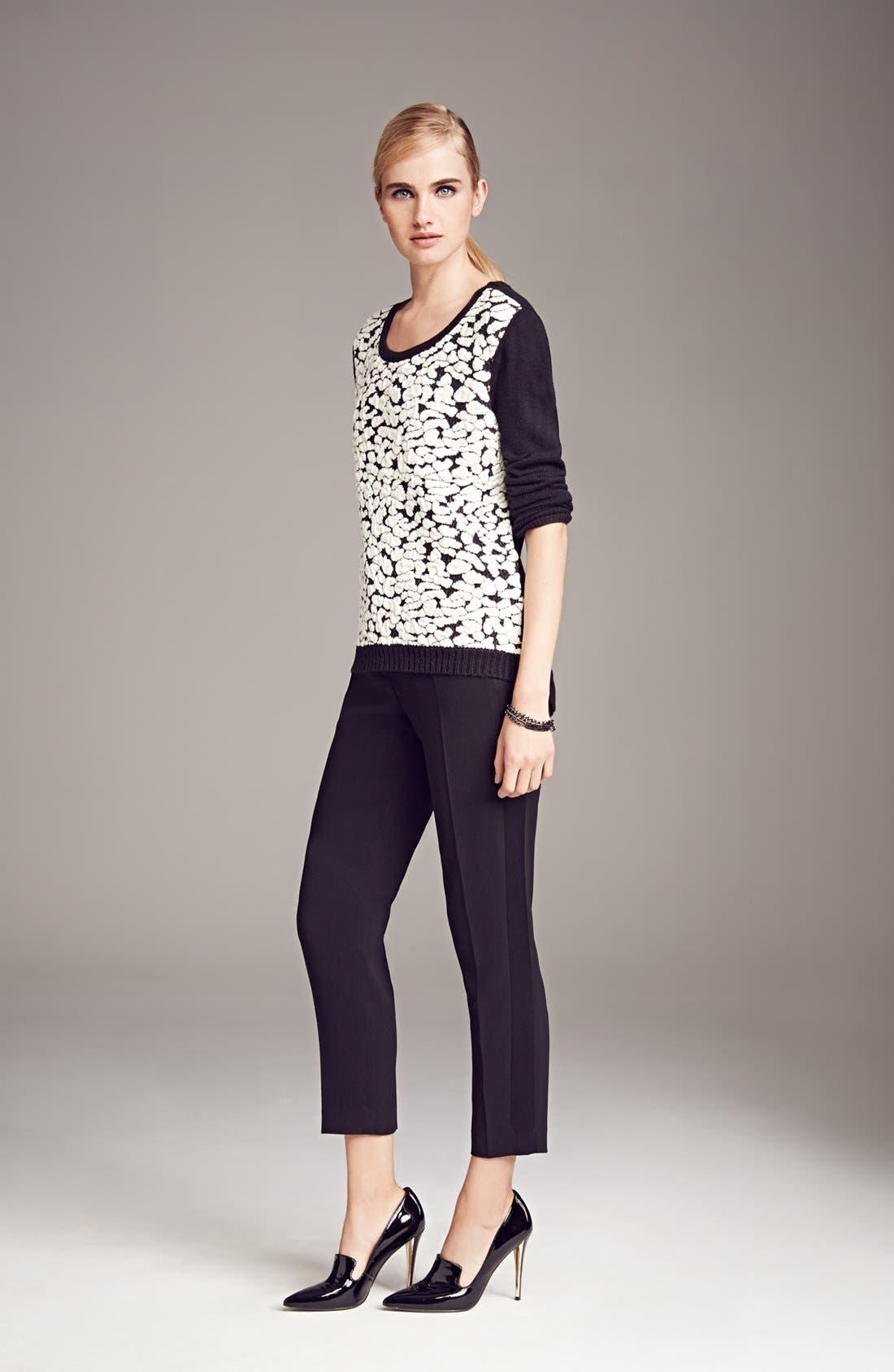 Alternate Image 4  - Trouvé Tuxedo Stripe Crop Pants