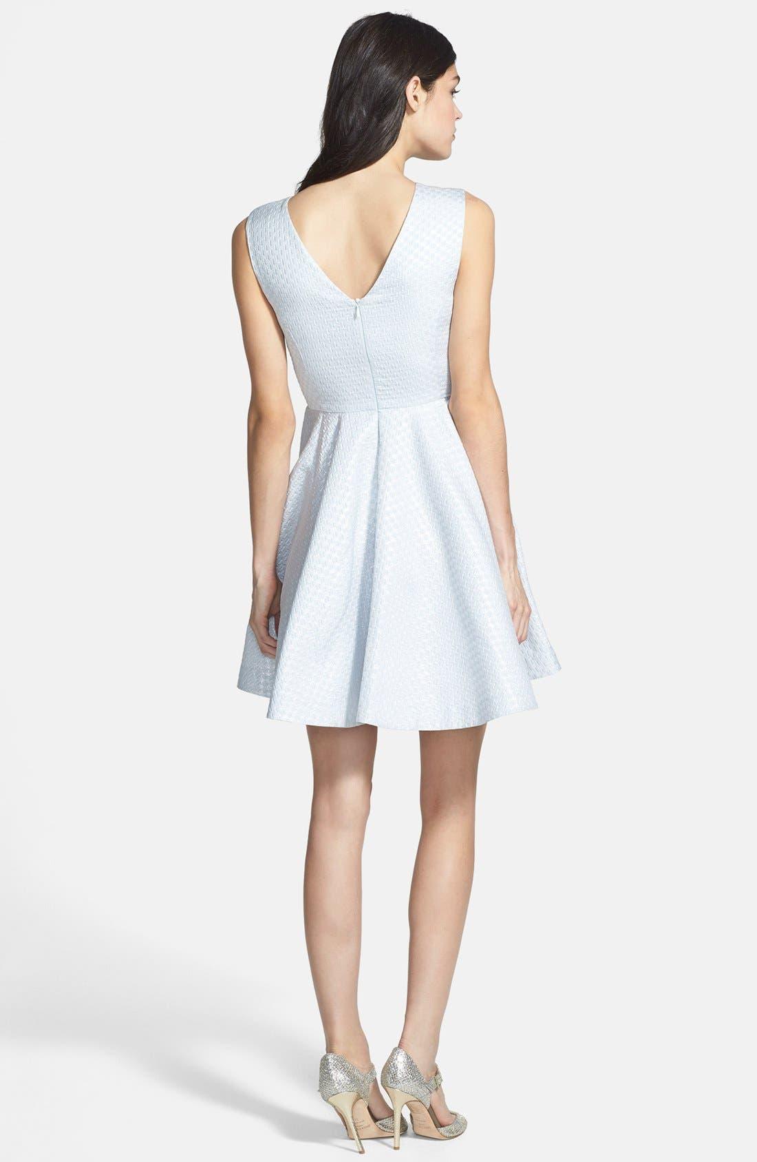 Alternate Image 2  - Shoshanna 'Krista' Jacquard Fit & Flare Dress