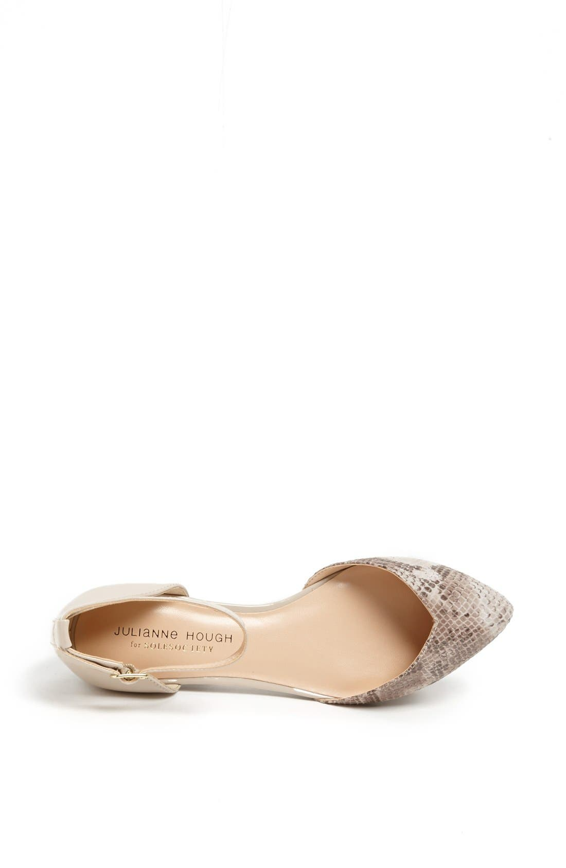 Alternate Image 3  - Sole Society 'Hadley' Ankle Strap Pointy Toe Flat