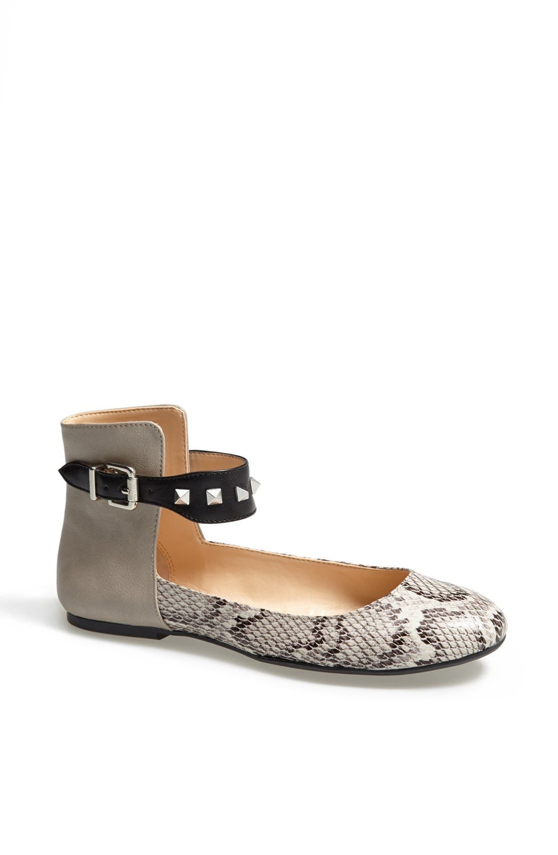 Alternate Image 1 Selected - Jessica Simpson 'Munney' Studded Ankle Strap Flat