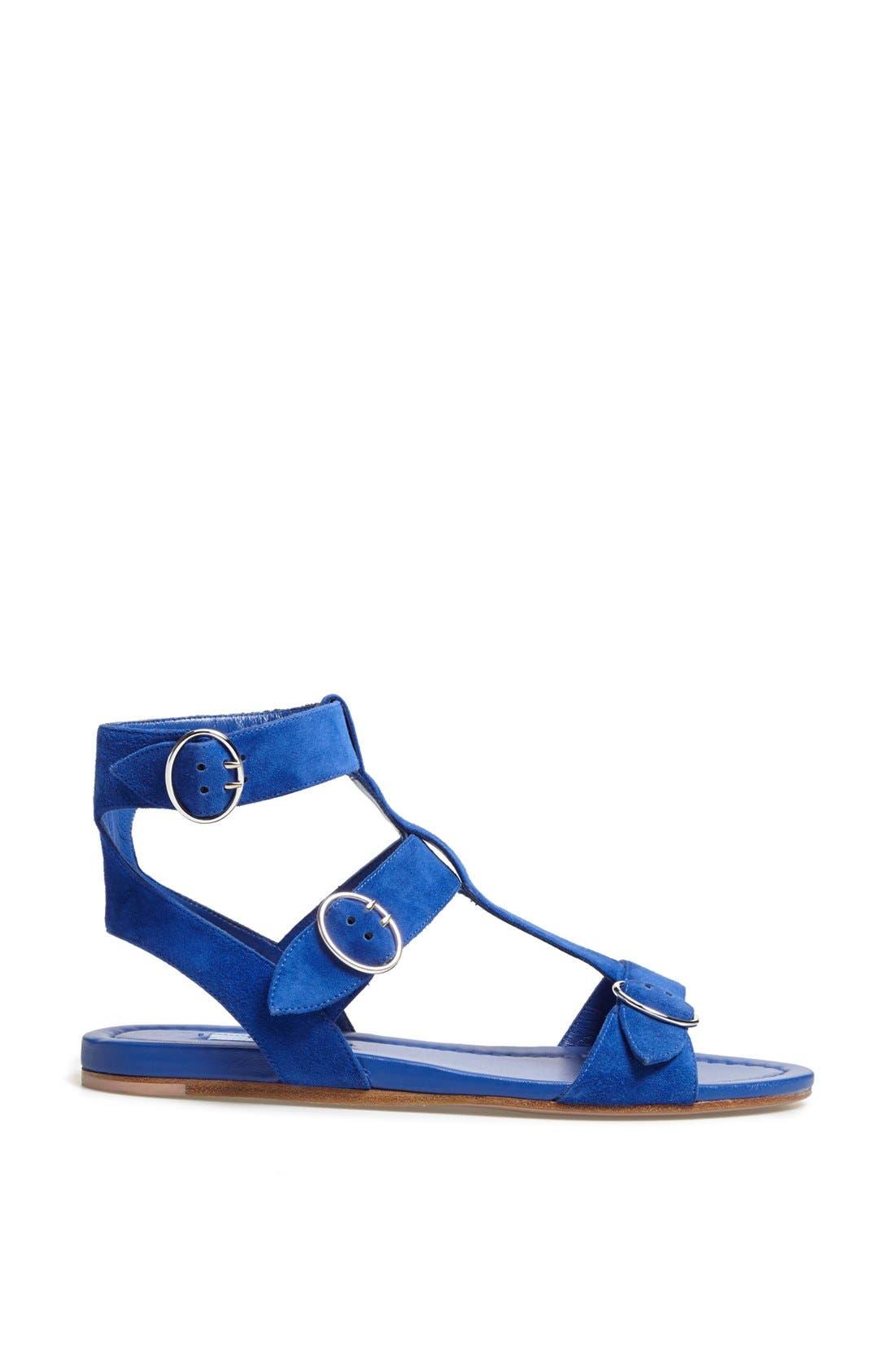 Alternate Image 4  - Prada Triple Buckle Gladiator Sandal