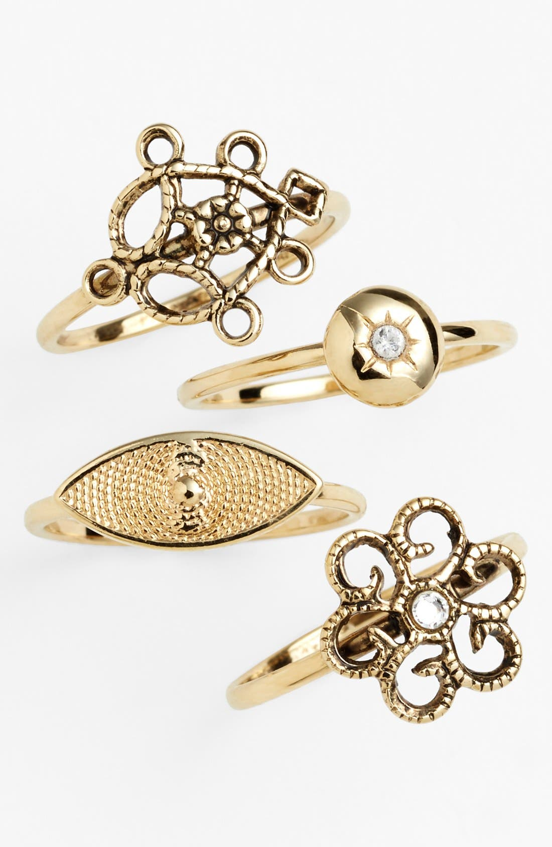 Alternate Image 2  - Bonnie Jonas 'Ornamental Eye' Midi Rings (Set of 4)