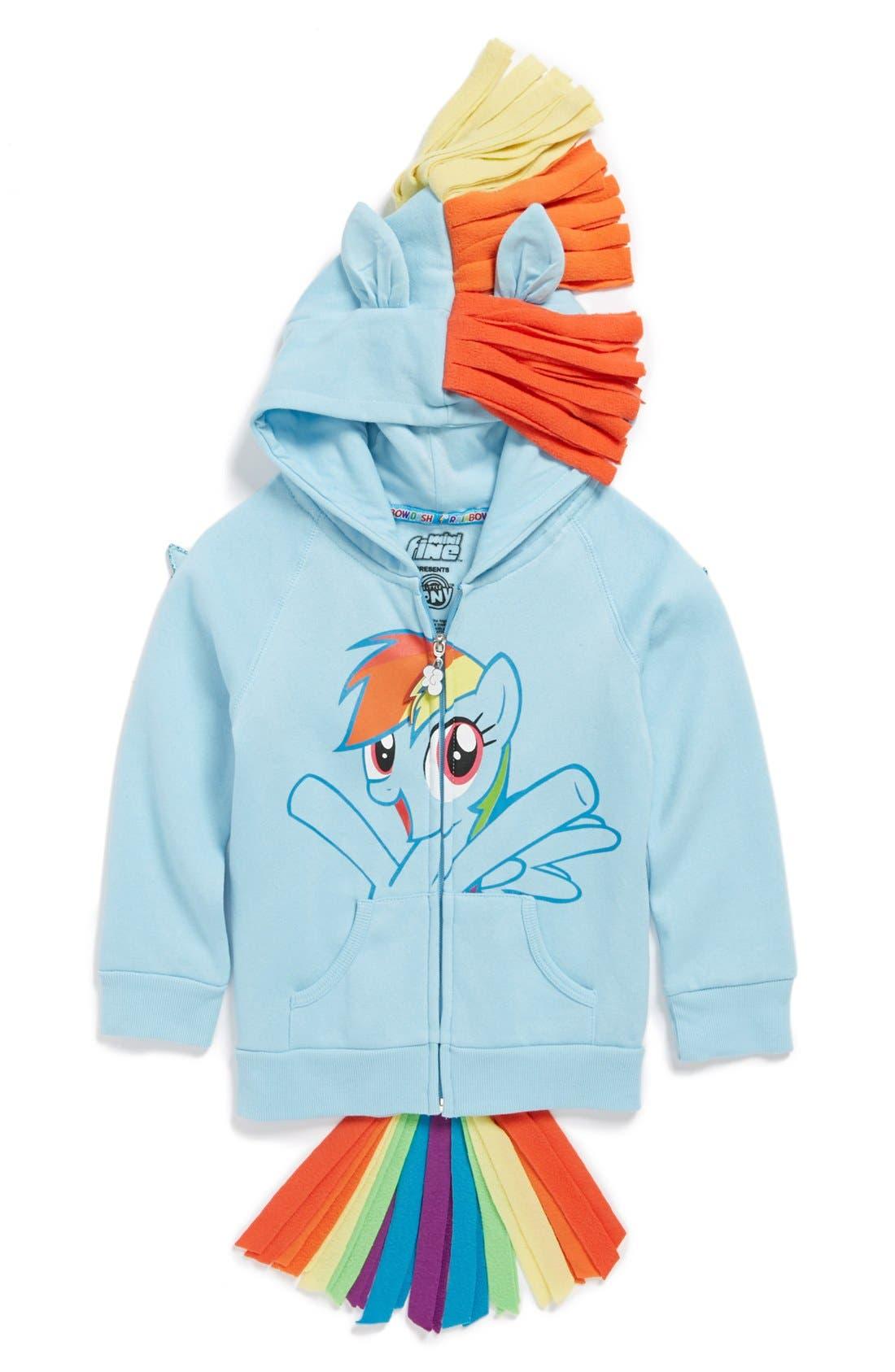 Main Image - Mighty Fine 'My Little Pony® - Rainbow Dash®' Hoodie (Little Girls)