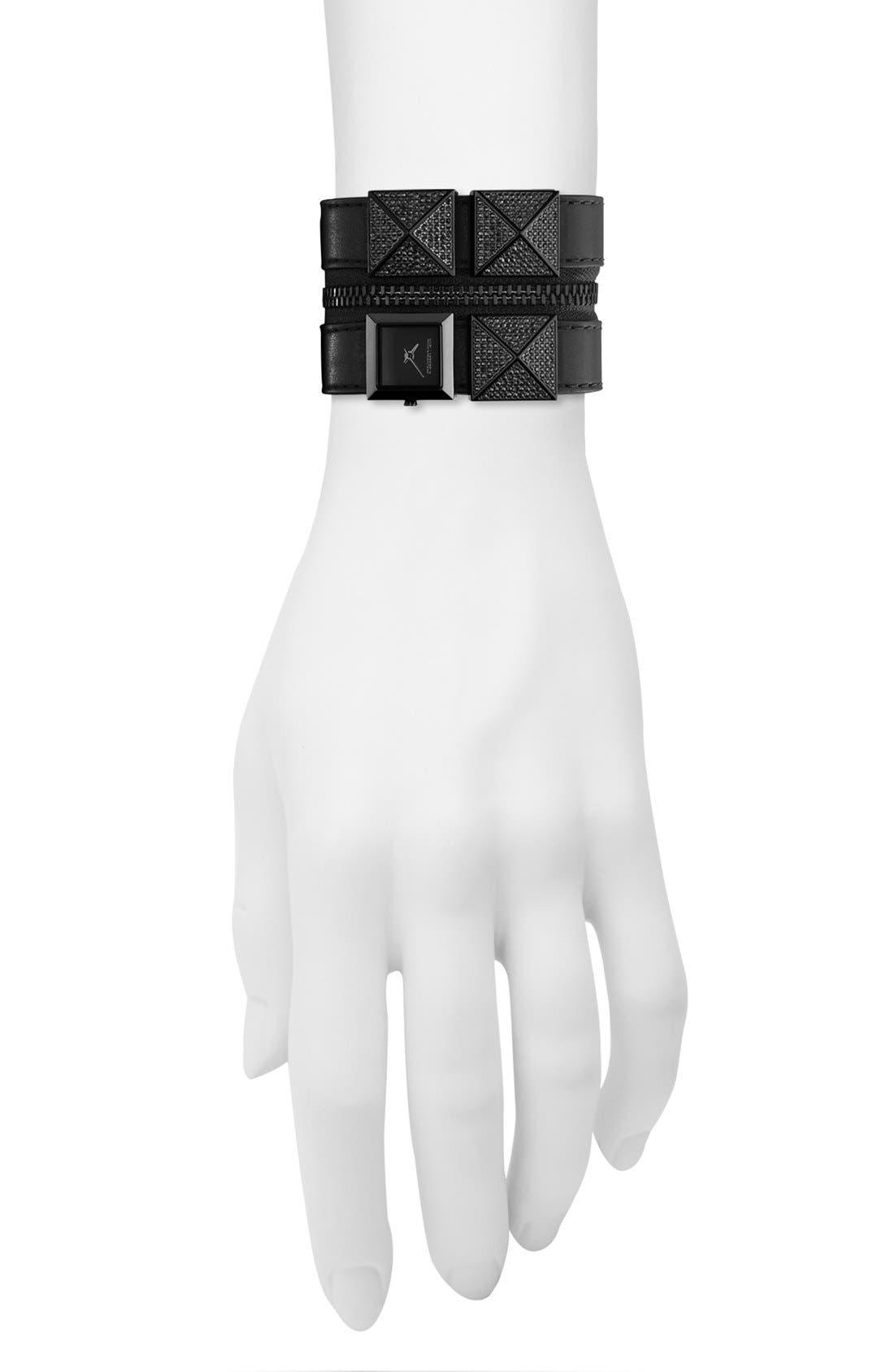 Alternate Image 4  - KARL LAGERFELD Double Strap Cuff Watch