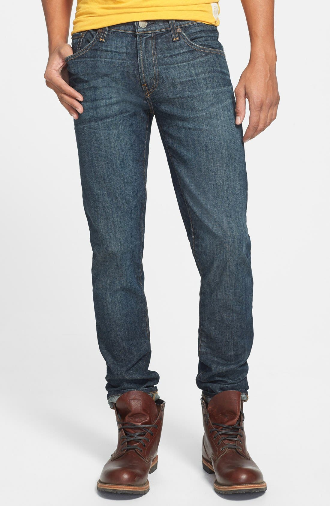 Alternate Image 1 Selected - J Brand Skinny Fit Selvedge Jeans (Theorem)
